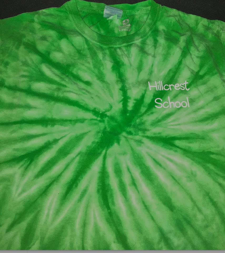 Kids Long Sleeve Green Tie Dye