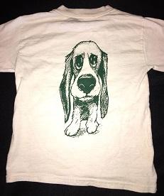 Adult Short Sleeve White Hillcrest Hound Shirt