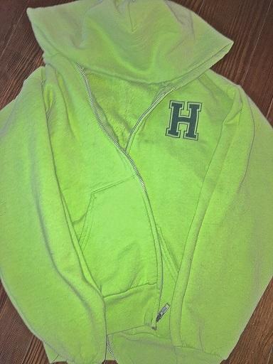Kids Light Green Zip Up Hoodie