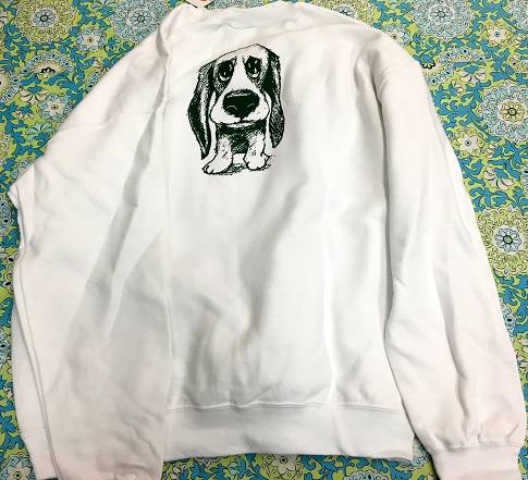 Adult White Pullover Sweatshirt