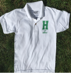 Adult White Short Sleeve Collared Shirt